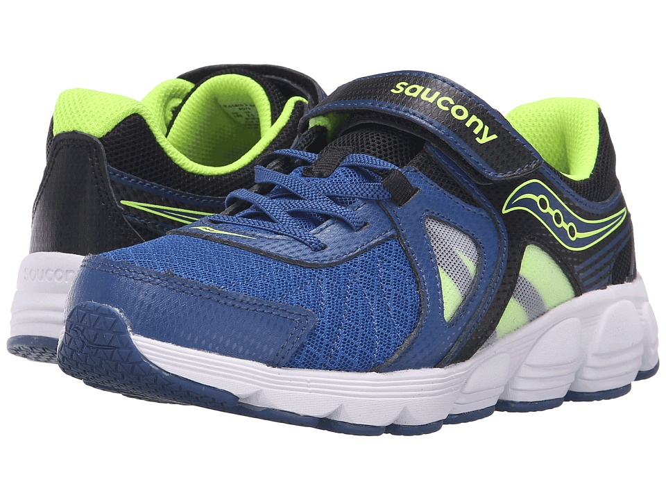 Saucony Kids - Kotaro 3 A/C (Big Kid) (Blue/Black/Citron) Boys Shoes
