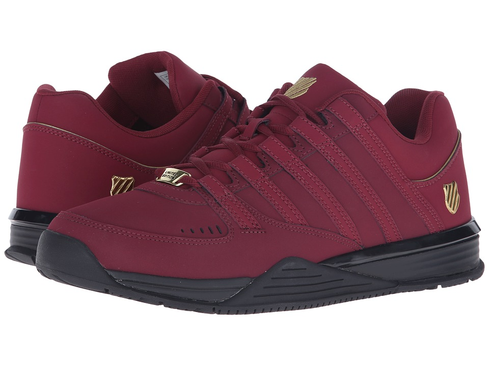 K-Swiss Baxter (Cordovan/Gold/Black Nubuck) Men