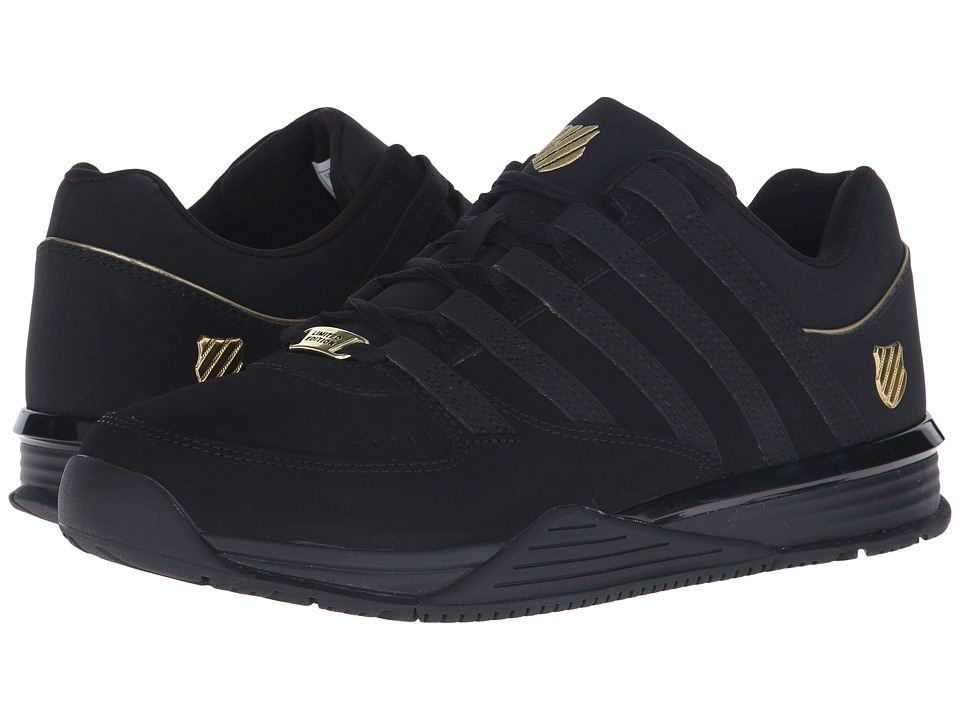 K-Swiss - Baxter (Black/Gold/Black Nubuck) Men's Shoes