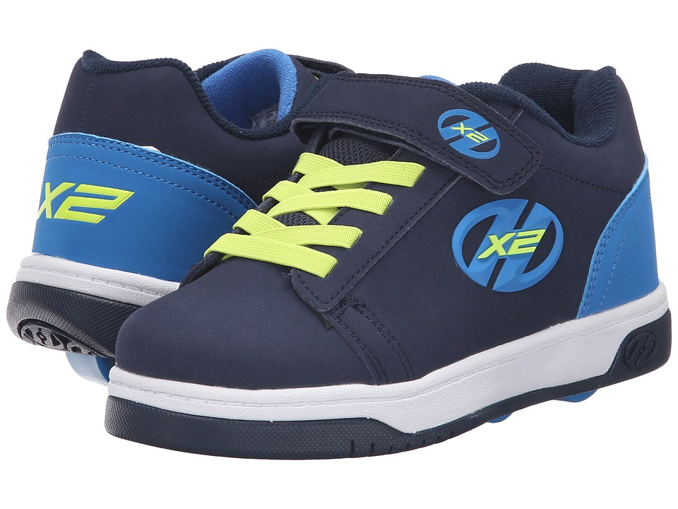 Heelys - Dual Up X2 Solid (Little Kid/Big Kid) (Navy/Royal/Bright Yellow) Boys Shoes