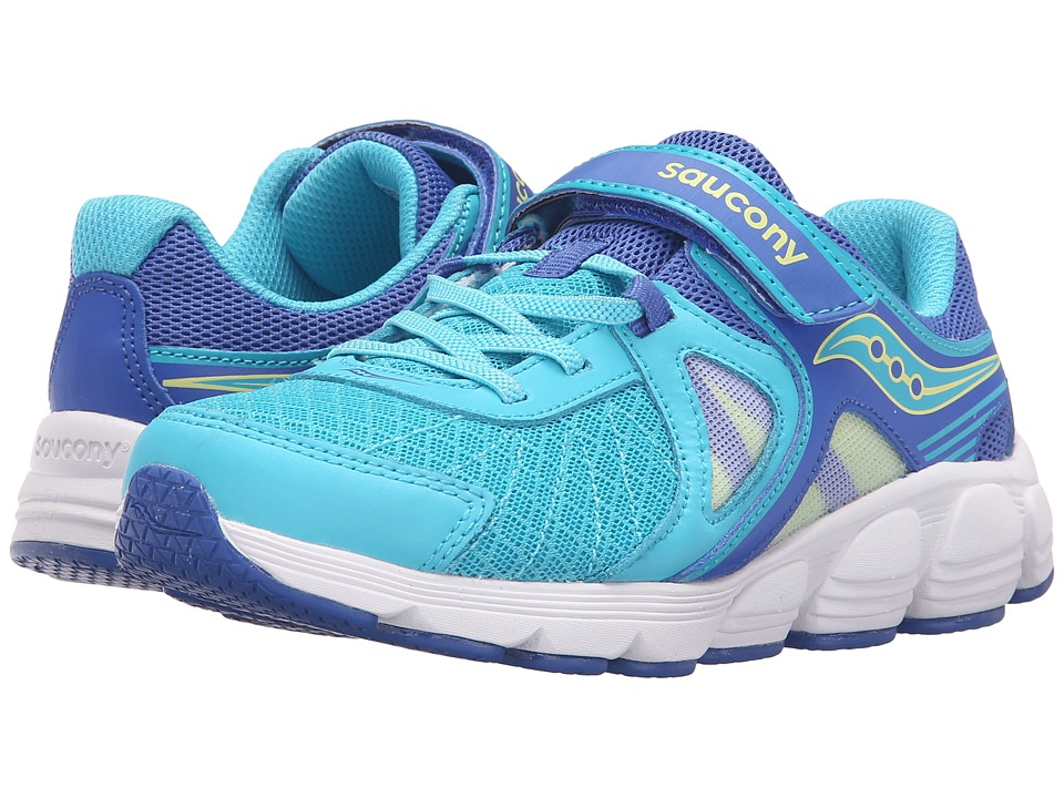 Saucony Kids Kotaro 3 A/C (Little Kid) (Turquoise/Citron) Girls Shoes