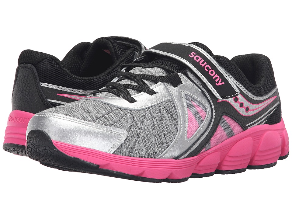 Saucony Kids - Kotaro 3 A/C (Big Kid) (Silver/Black/Pink) Girls Shoes