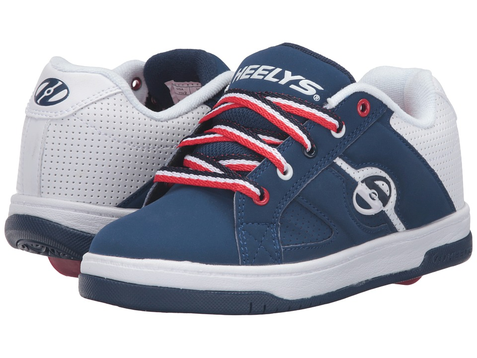 Heelys Split (Little Kid/Big Kid/Adult) (Navy/White/Red) Boys Shoes