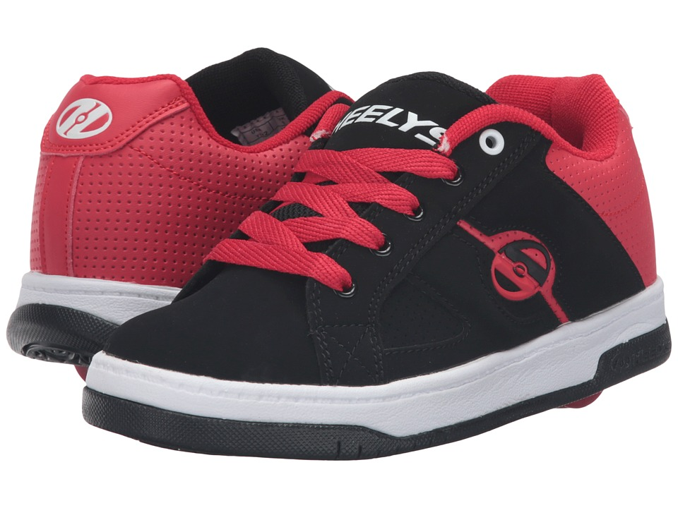 Heelys Split (Little Kid/Big Kid/Adult) (Black/Red) Boys Shoes