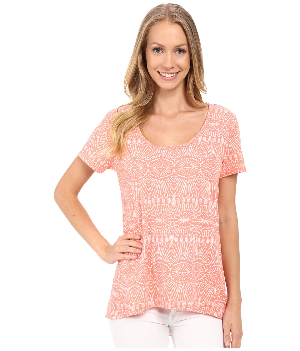 Fresh Produce - Tribal Luna Top (Melon Sherbet) Women's Clothing