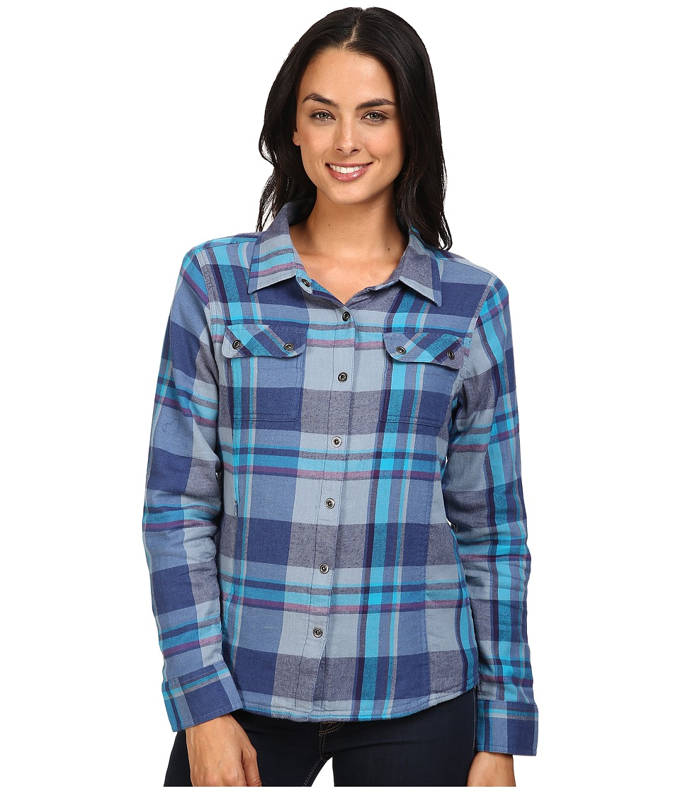 Prana - Bridget Top (Vintage Cobalt) Women's Long Sleeve Button Up