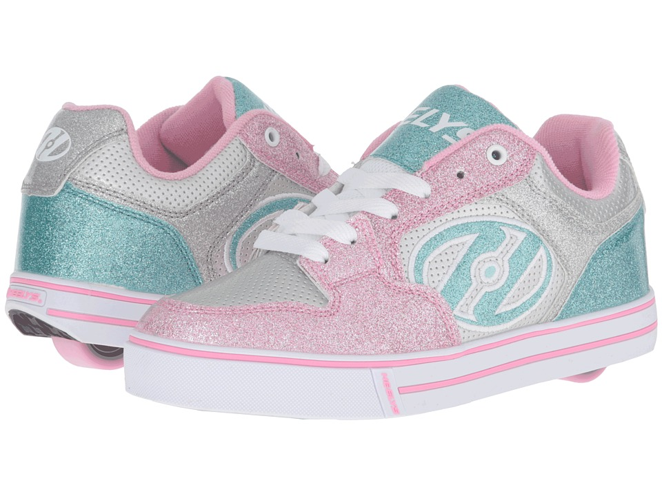 Heelys - Motion Plus (Little Kid/Big Kid/Adult) (Silver/Pink/Blue/Glitter) Girl's Shoes