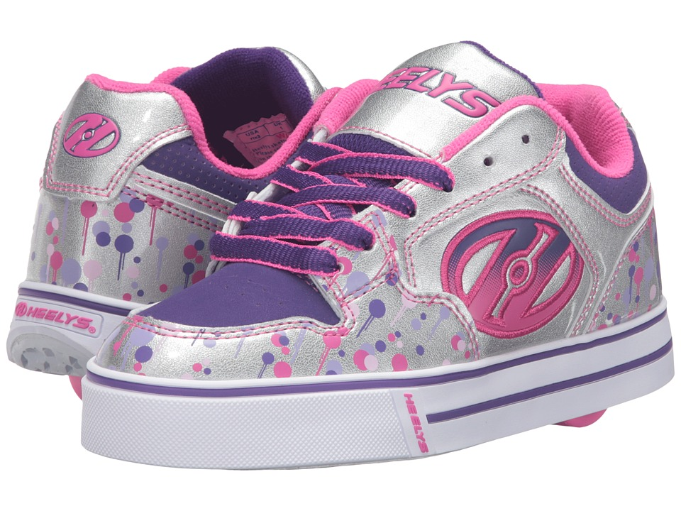 Heelys - Motion Plus (Little Kid/Big Kid/Adult) (Silver/Pink/Purple/Drip) Girl's Shoes