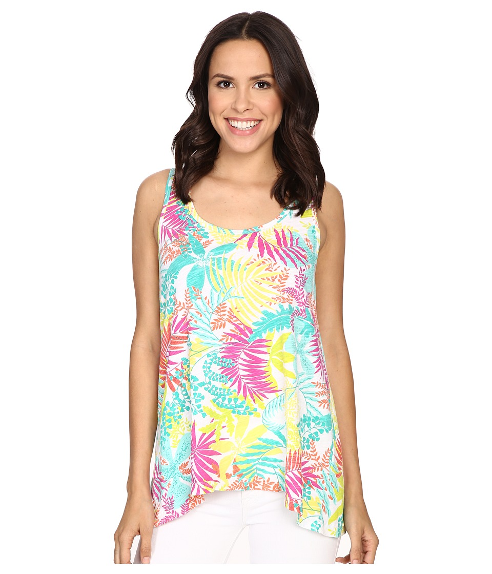 Fresh Produce - Vintage Palm Crossback Tank Top (White) Women's Sleeveless