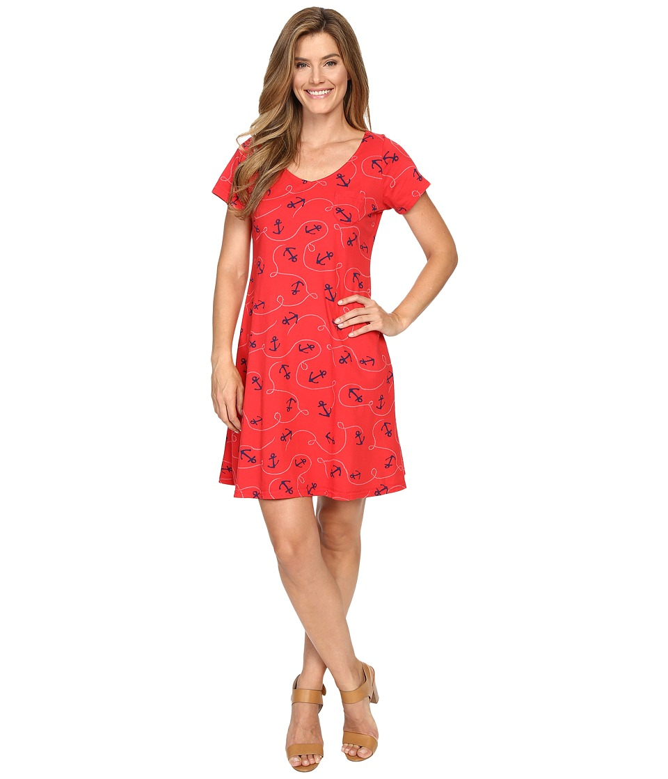 Fresh Produce - Anchors Away Sydney Dress (Barn Red) Women's Dress