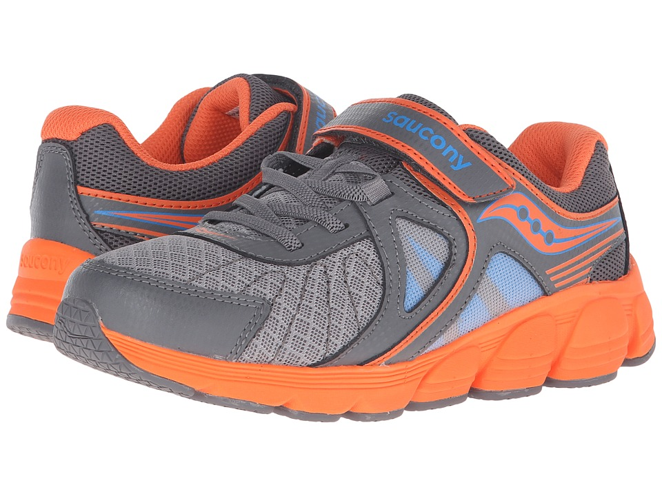 Saucony Kids - Kotaro 3 A/C (Big Kid) (Grey/Orange/Blue) Boys Shoes