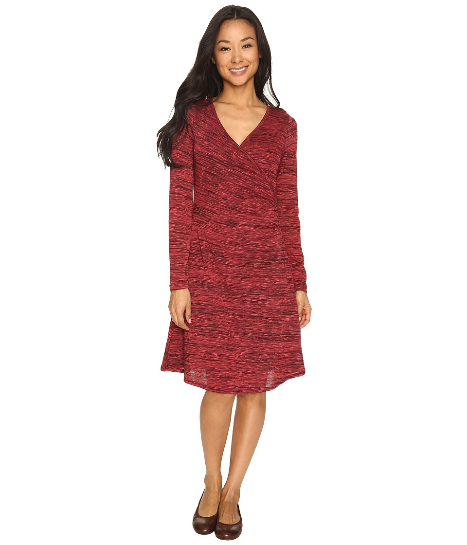 Prana - Nadia Long Sleeve Dress (Sunwashed Red) Women's Dress