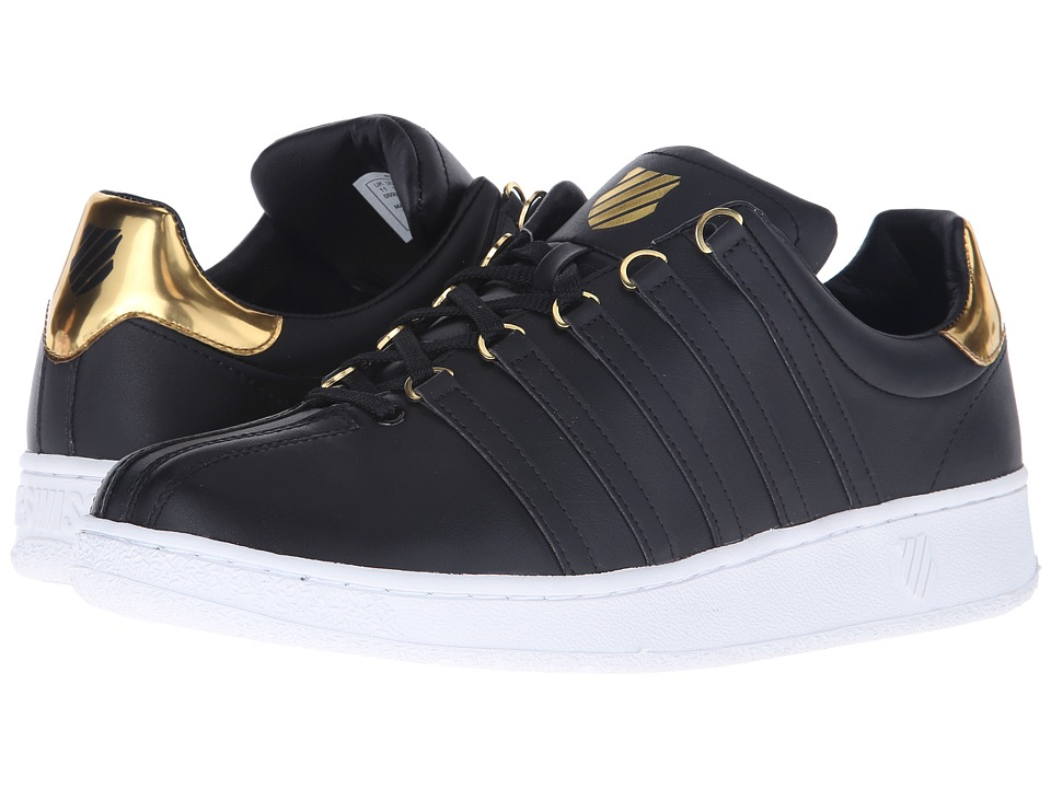 K-Swiss - Classic VN Metal (Black/Metal Gold Leather) Men's Tennis Shoes