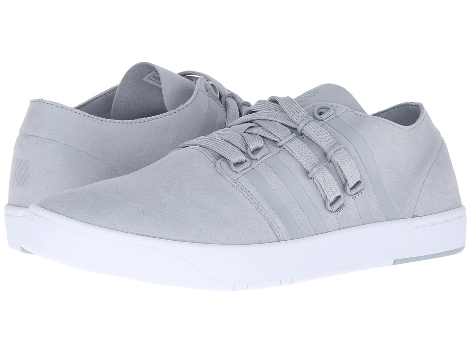 K-Swiss - D R Cinch Lo (High Rise/White Suede) Men's Tennis Shoes