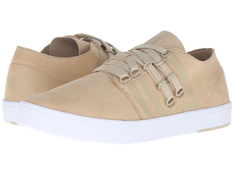 K-Swiss - D R Cinch Lo (Khaki/White Suede) Men's Tennis Shoes