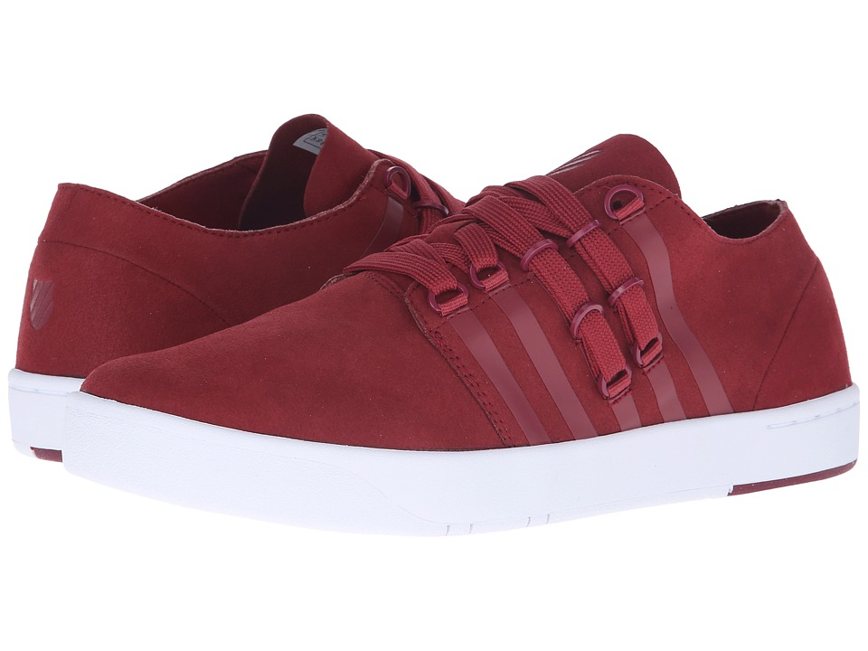 K-Swiss - D R Cinch Lo (Rhododendron/White Suede) Men's Tennis Shoes