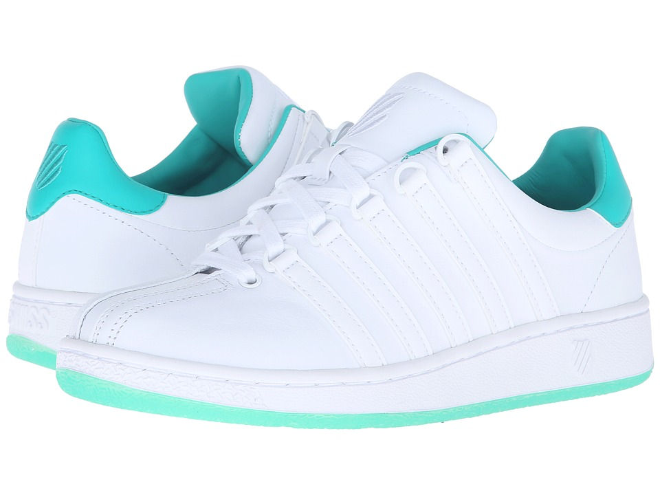 K-Swiss - Classic VN Sherbet (White/Pool Green Leather) Women's Tennis Shoes
