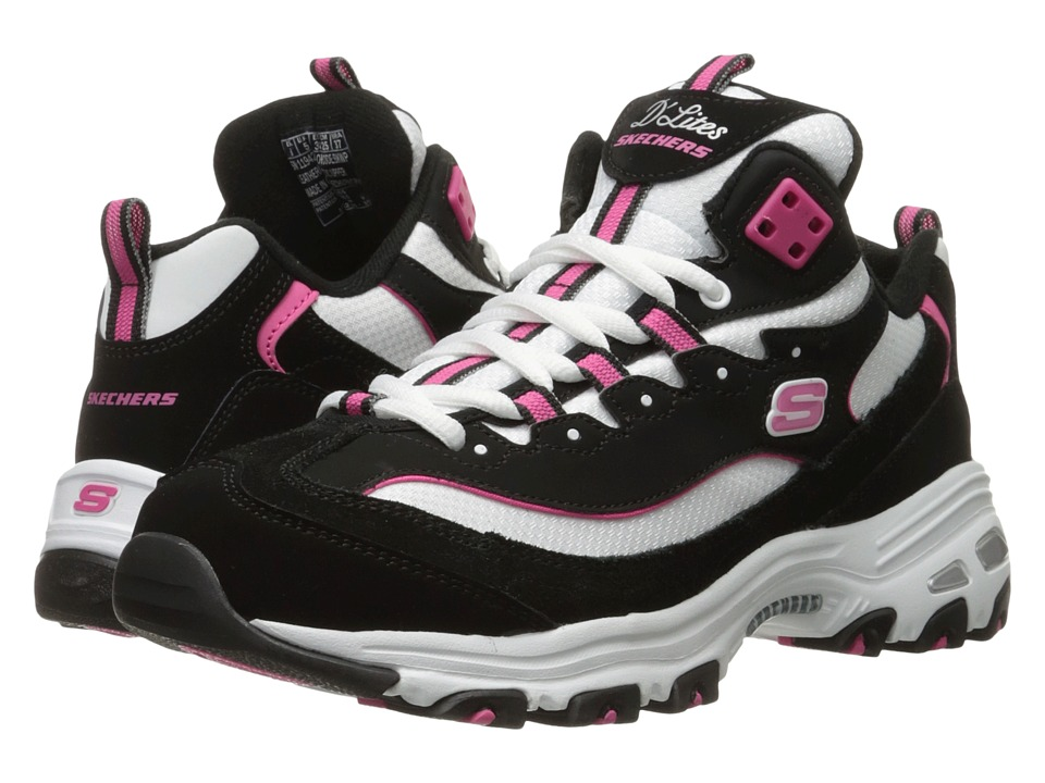 SKECHERS - D'Lites - Mid (Black 1) Women's Shoes