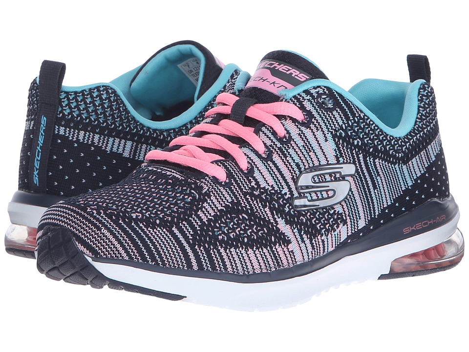 SKECHERS - Skech - Air Infinity - Wildcard (Navy/Mint) Women's Shoes