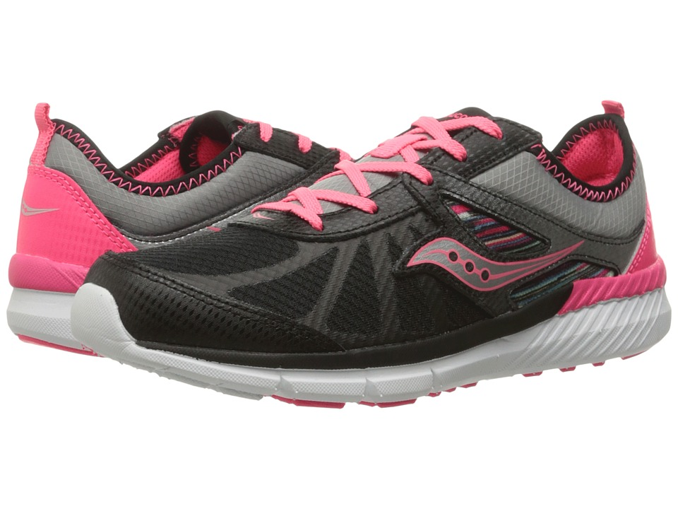 Saucony Kids - Volt (Big Kid) (Black/Multi) Girls Shoes