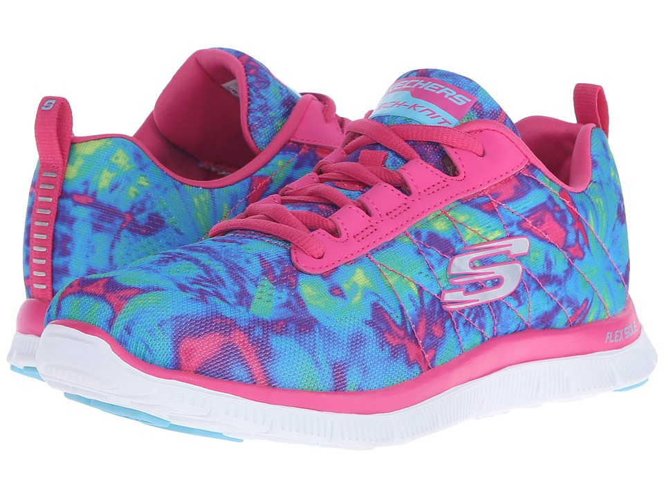 SKECHERS - Flex Appeal - Cosmic Rays (Hot Pink/Multi) Women's Shoes