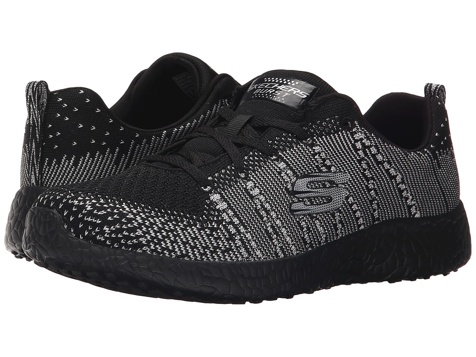 SKECHERS - Burst - First Glimpse (Black/Silver) Women's Shoes