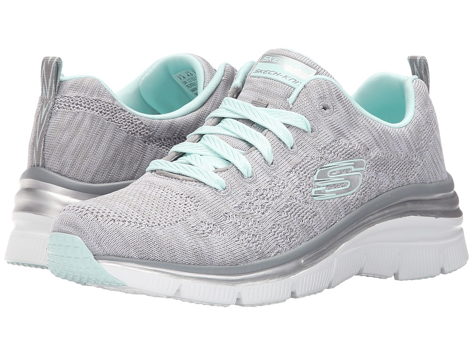 SKECHERS - Fashion Fit (Gray/Mint) Women's Shoes