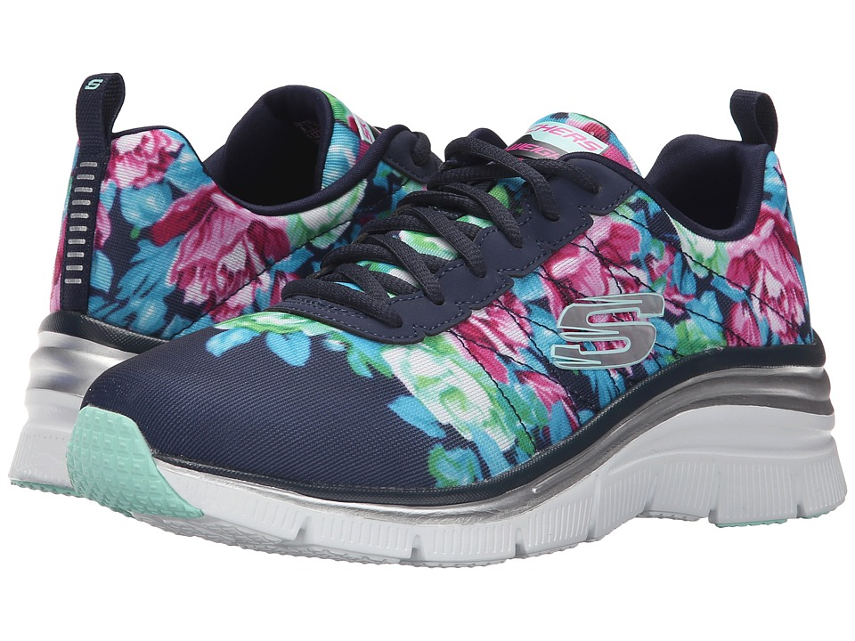 SKECHERS - Fashion Fit (Navy/Mint) Women's Shoes