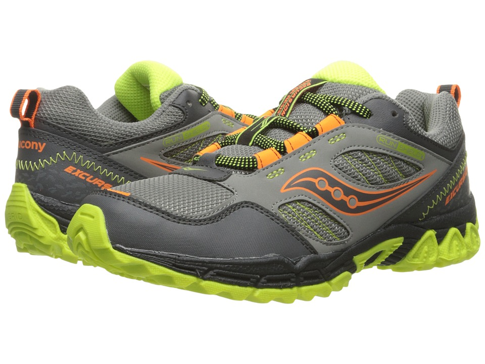 Saucony Kids - Excursion Water Shield (Big Kid) (Grey/Orange/Citron) Boys Shoes