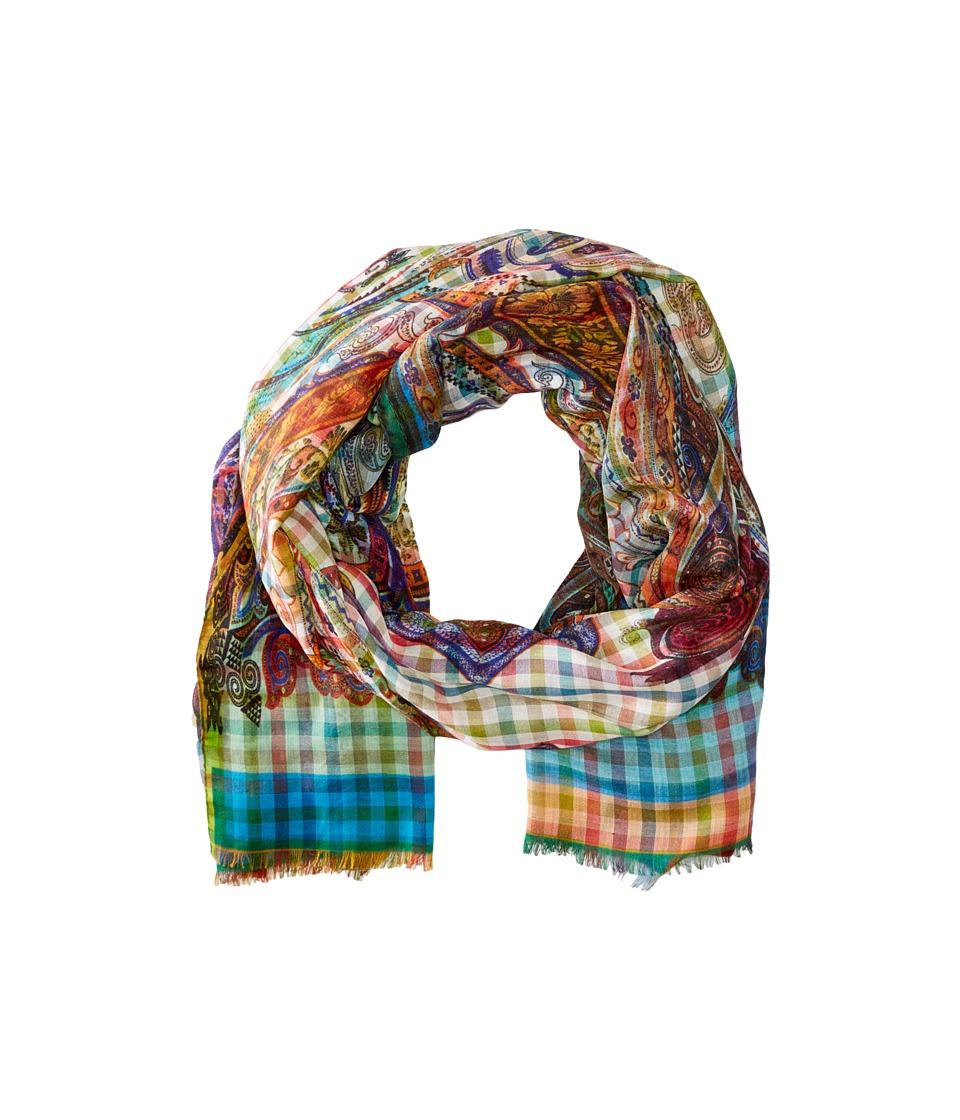 Etro - Gingham Paisley Scarf (Multi) Scarves