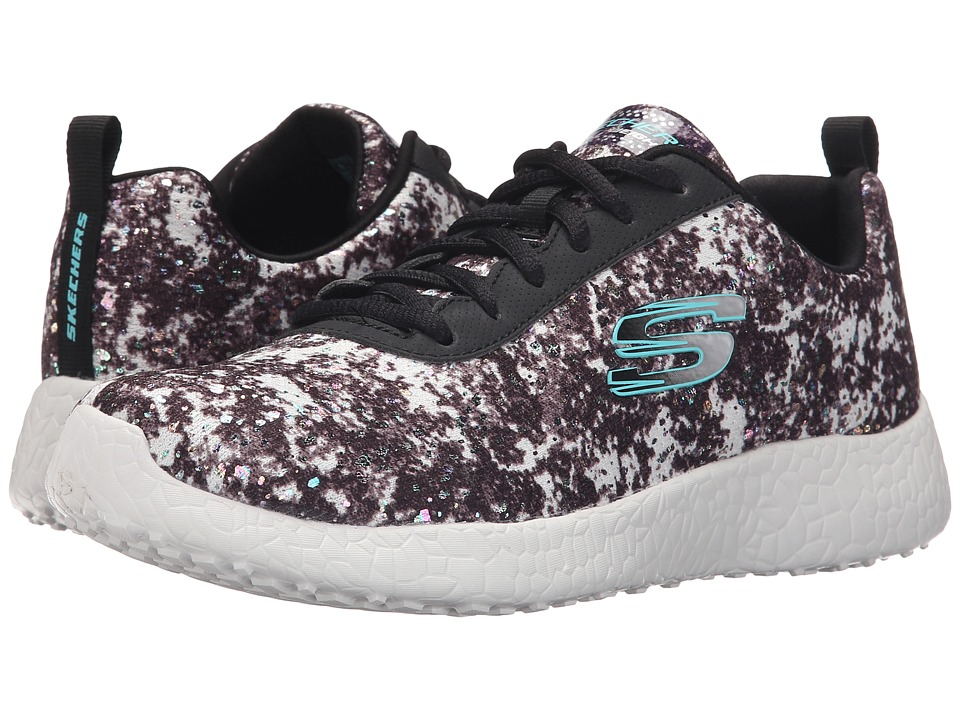 SKECHERS - Burst - Illuminations (Black/White) Women's Shoes