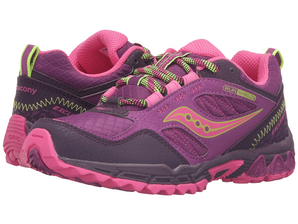 Saucony Kids Excursion Water Shield (Little Kid) (Berry/Pink/Citron) Girls Shoes