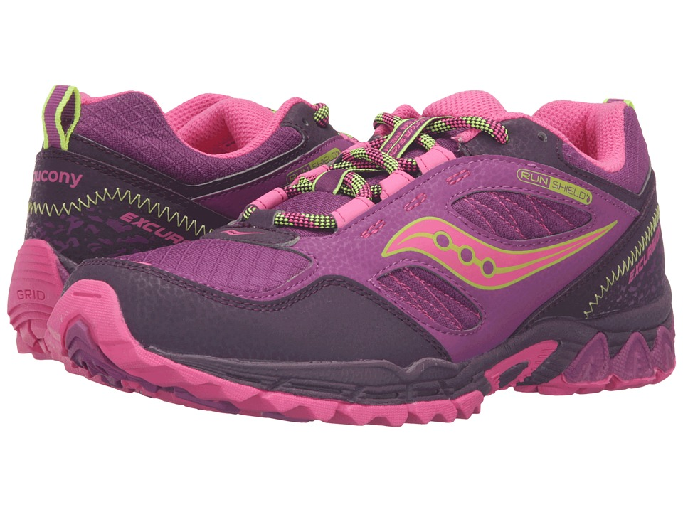 Saucony Kids Excursion Water Shield (Big Kid) (Berry/Pink/Citron) Girls Shoes