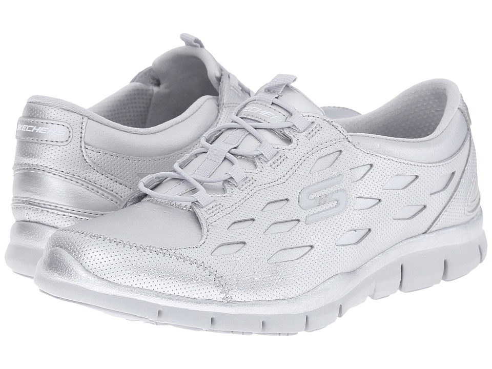 SKECHERS - Gratis - Forward Motion (Silver) Women's Shoes