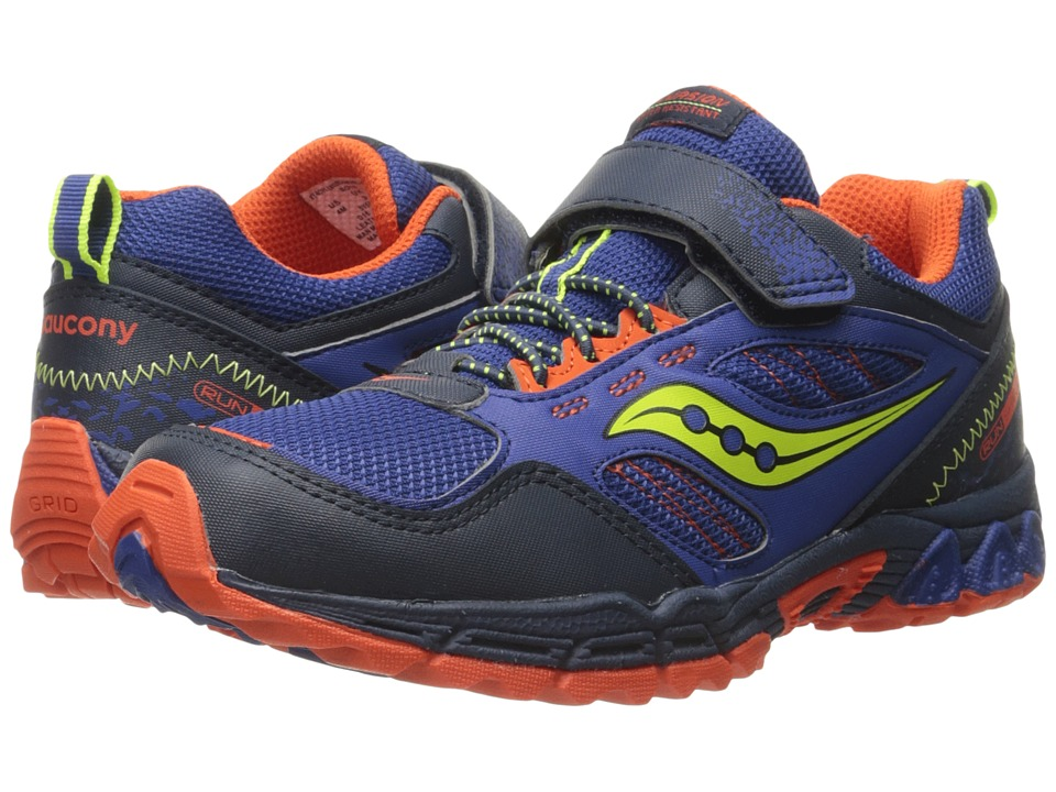 Saucony Kids - Excursion Water Shield A/C (Big Kid) (Blue/Citron/Orange) Boys Shoes