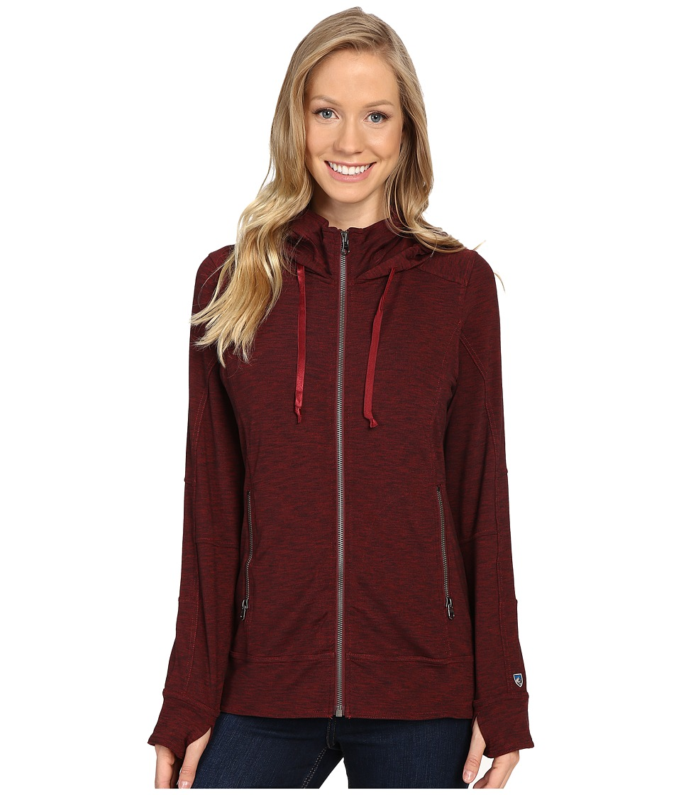 KUHL - Mova Hoodie (Syrah Heather) Women's Sweatshirt