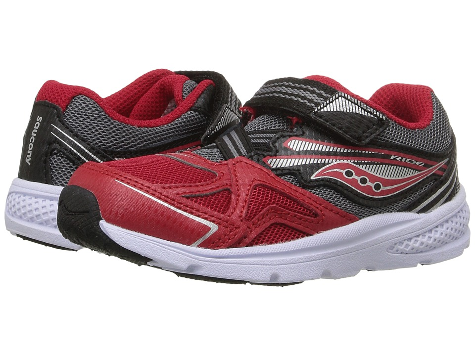 Saucony Kids Baby Ride (Toddler/Little Kid) (Red/Black) Boys Shoes