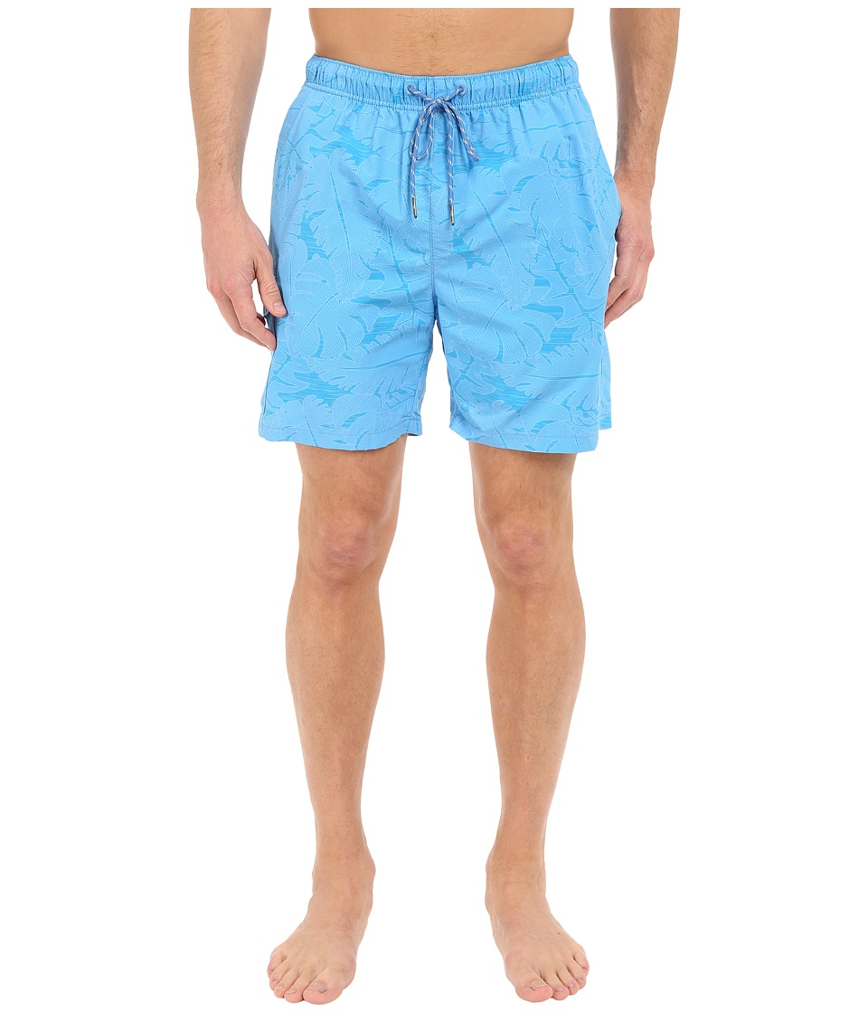 Tommy Bahama - Naples Captain Jacquard 6-inch Swim Trunks (Lol Blue) Men's Swimwear