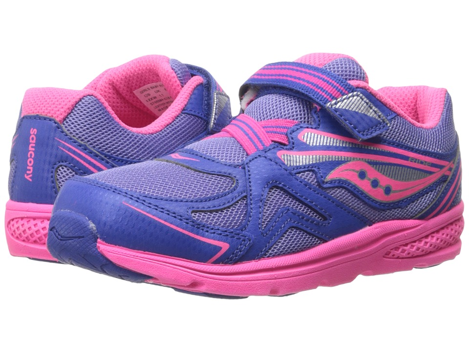 Saucony Kids - Baby Ride (Toddler/Little Kid) (Periwinkle/Pink) Girls Shoes