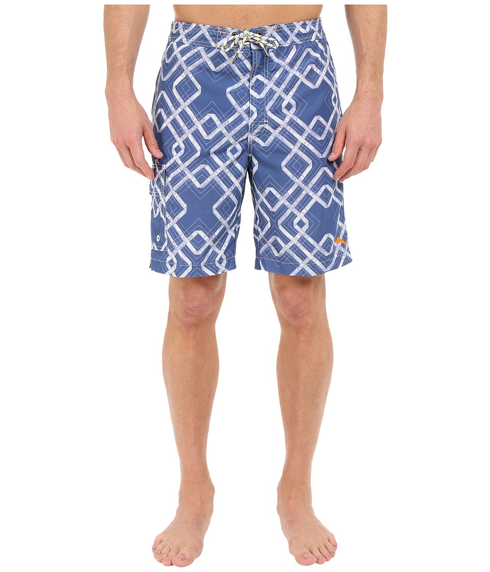 Tommy Bahama - Baja Rockford Tiles 9-inch Swim Trunk (Dockside Blue) Men's Swimwear
