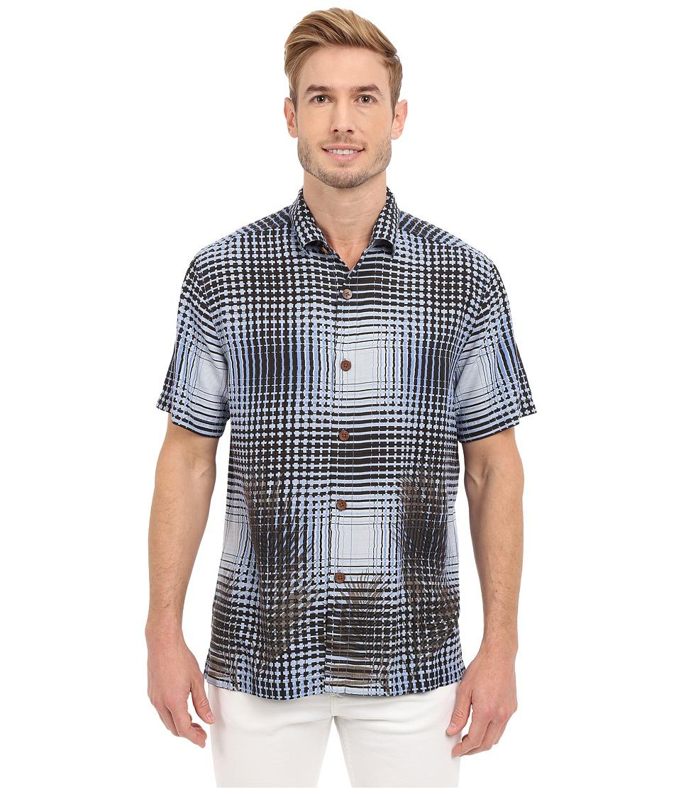Tommy Bahama - Chateau Plaid Camp Shirt (Turbulence) Men's Clothing