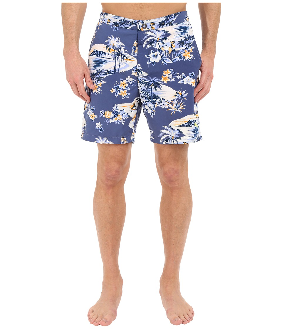 Tommy Bahama - Coasta Lazy Luau 7-inch Swim Trunks (Dockside Blue) Men's Swimwear