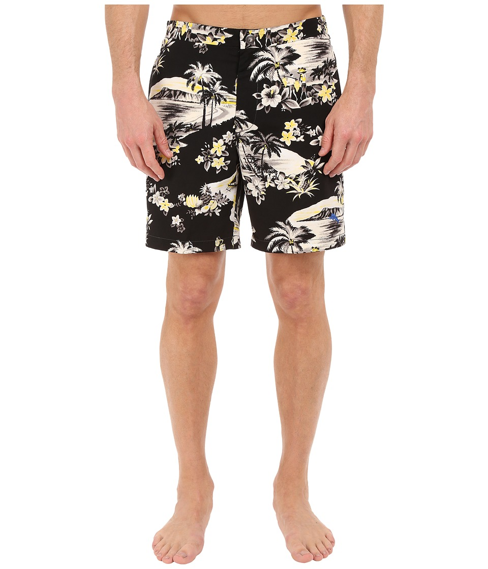 Tommy Bahama - Coasta Lazy Luau 7-inch Swim Trunks (Black) Men's Swimwear