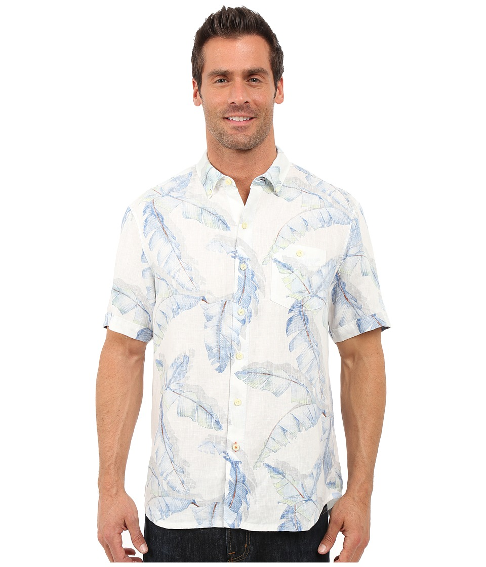 Tommy Bahama - South of Fronds Breezer Linen Camp Shirt (Coconut) Men's Clothing