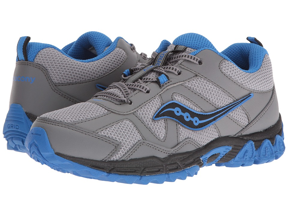 Saucony Kids - Escape (Big Kid) (Grey/Black/Blue) Boys Shoes