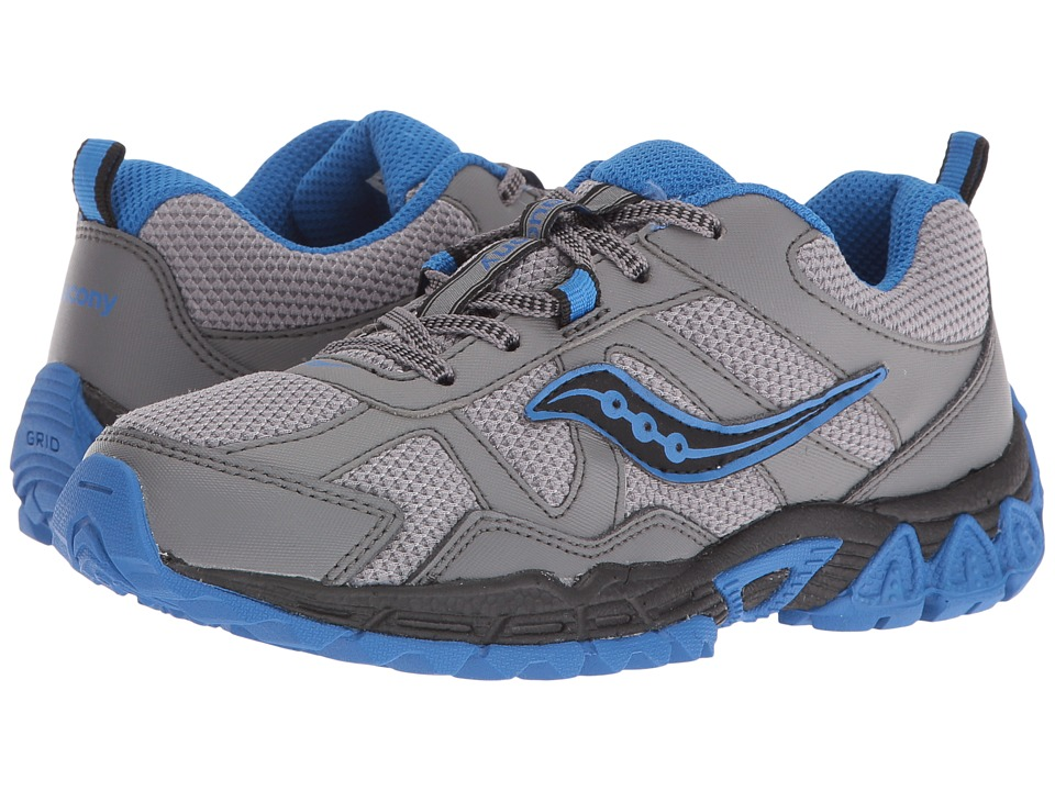 Saucony Kids - Escape (Little Kid) (Grey/Black/Blue) Boys Shoes