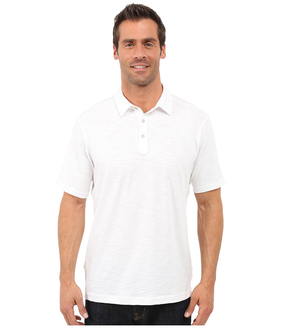 Tommy Bahama - Portside Player Spectator Polo (White) Men's Clothing