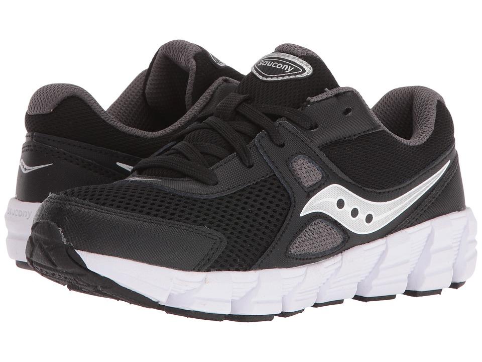 Saucony Kids Vortex (Little Kid) (Black/Grey/Silver) Boys Shoes