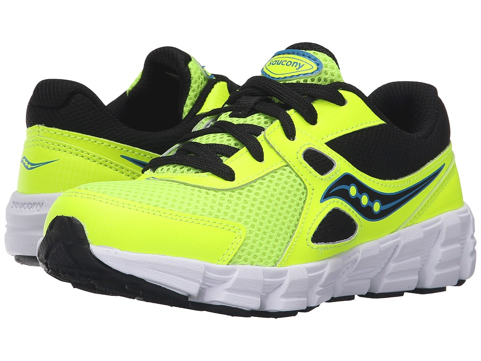 Saucony Kids - Vortex (Little Kid) (Citron/Black/Blue) Boys Shoes