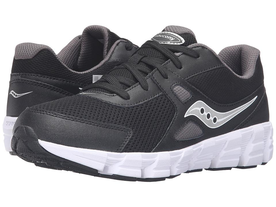 Saucony Kids Vortex (Big Kid) (Black/Grey/Silver) Boys Shoes